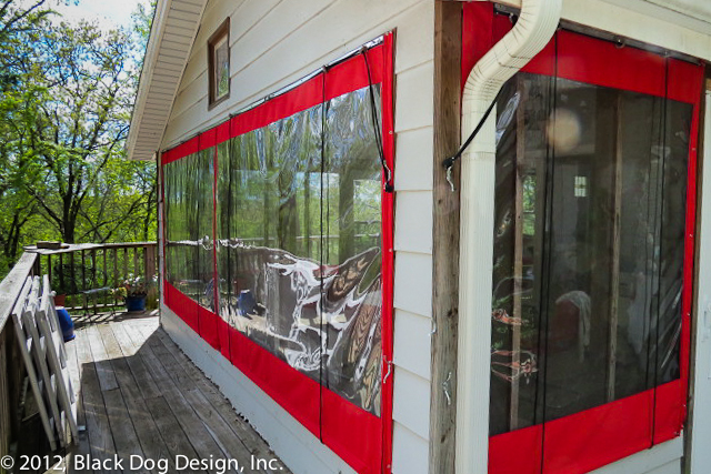 Clear coverings for screened-in porch