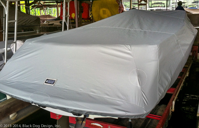 A tight-fitting, full-coverage boat cover to protect your investment.