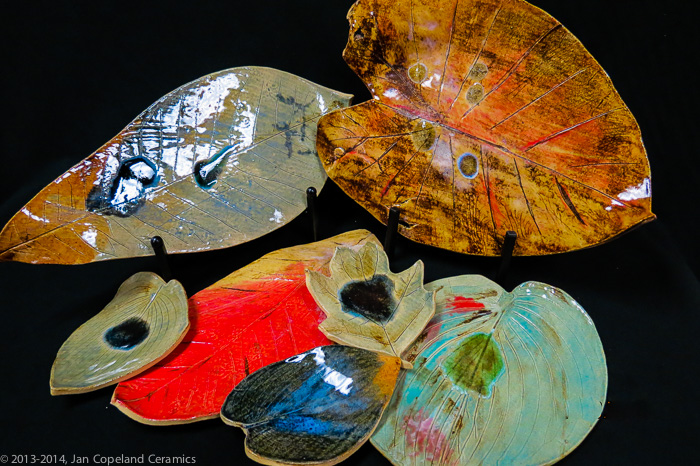 """Autumn Leaves""<br />A Collection in Clay and Glass""<br />(Click on this image to see more photos of Autumn Leaves)"