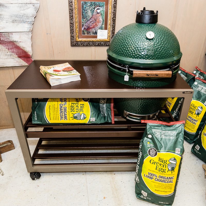 The new Spark weatherproof cabinet for the Big Green Egg.